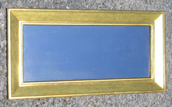 narrow mirror with wide sully frame