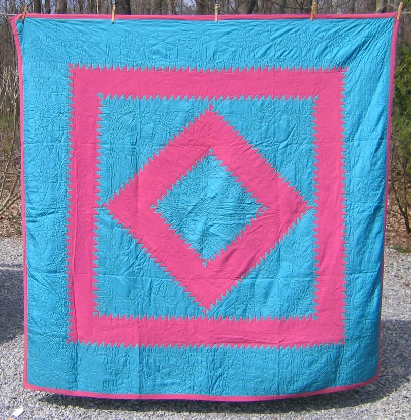 Lancaster Co. Amish Diamond in Square Quilt : amish diamond quilt pattern - Adamdwight.com