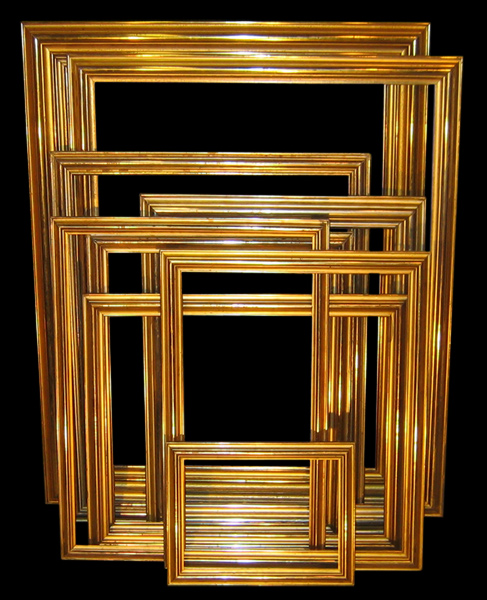 Antique Frames - Hump in the Middle - Great Portrait Frames or Mirror Frames